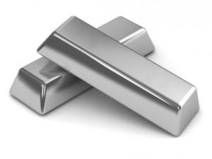 2 zilveren baren op elkaar